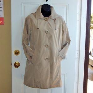 LONDON FOG Rain Coat w/Detachable Hood RN121545